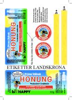 bi-HAPPY Landskrona – Etiketter till honungsburkar 2015