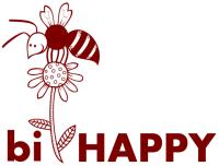 bi-HAPPY – Logga vinröd