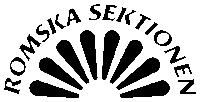Romska Sektionen – Logga svartvit
