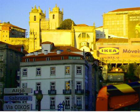 OIKOS มีเครือข่ายการดำเนินงานในต่างประเทศ รูปภาพของเมืองปอร์โตในประเทศโปรตุเกส