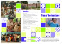 Yuna Volunteer – Gambia – Broschyr