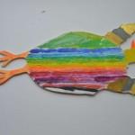 Fågelmobil skapad av barn på Palettskolan. Foto: Pehr Ellgård