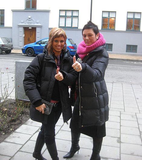 Vanja Drazic-Bell och Jenni Rantala BILD: Landskrona Direkt