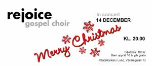 konsert med rejoice gospel choir 14 dec