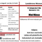 Minimässa på Landskrona Museum 21 maj