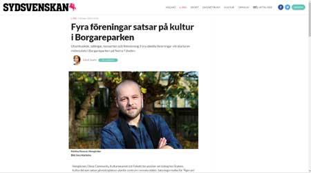 Fyra föreningar satsar på kultur i Borgareparken