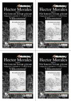 Infoblad (4 st. A6) om Hector Morales boksignering av När konsten korsar gränser på ICA Tornet.