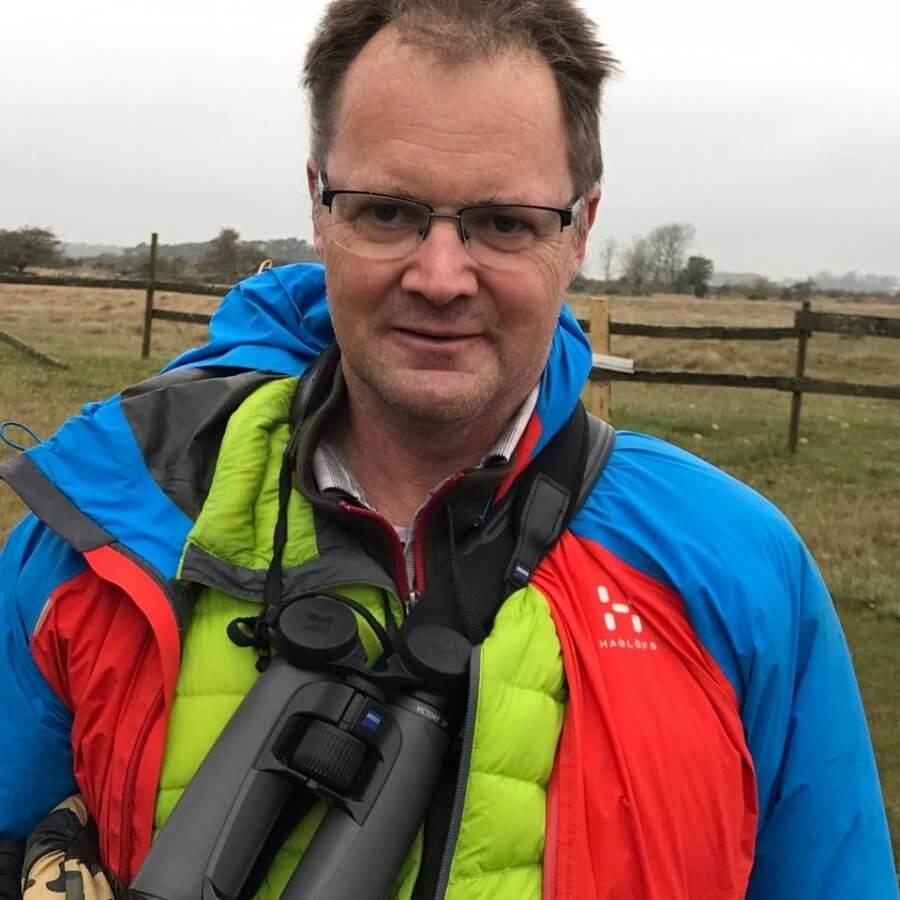 Lars-Erik är även fågelskådare. Foto: privat